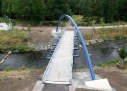 Biegetechnik für eine Fuß- und Radwegbrücke über die Gera-Flussschleife in Erfurt