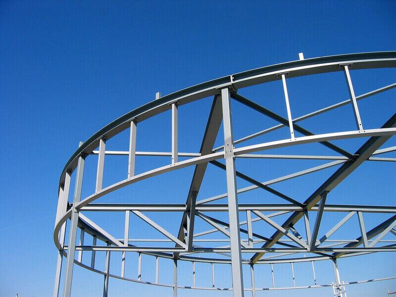 Rundbiegen für Ringdachkonstruktion
