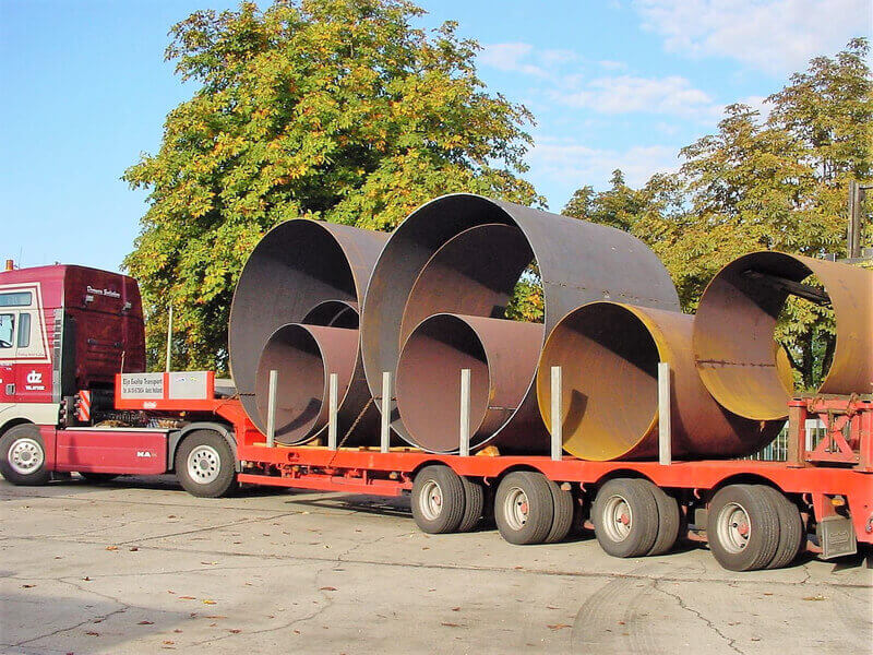 Verpackung und Transport von Biegeteilen
